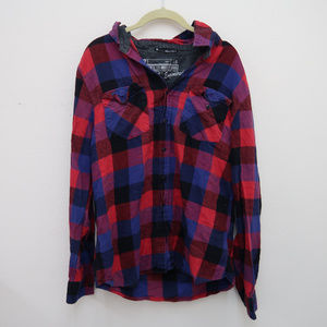 Forever 21 Button Down Plaid Fitted Shirt Blouse